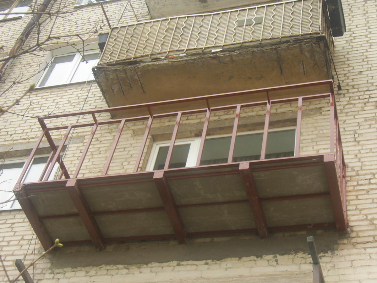 Ремонт балкона технология..