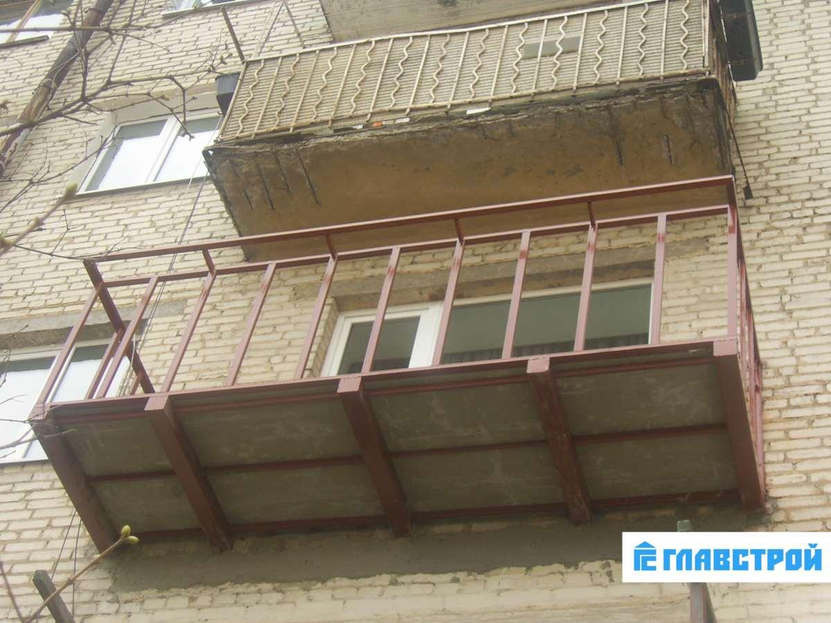 Ремонт балкона плиты.